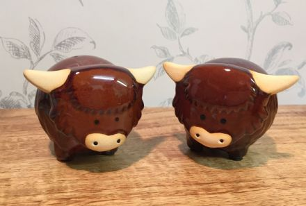Highland Cow Ceramic Salt & Pepper Pot Gift Set